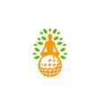 meditation golf logo icon design vector image