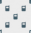 mobile phone icon sign Seamless pattern with vector image