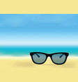 ocean shore and sunglasses vector image vector image