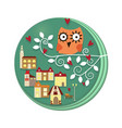 owls on tree vector image vector image