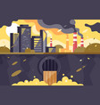 polluted city landscape vector image vector image