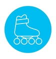Roller skate line icon vector image vector image