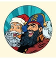 Santa and the pirate vector image