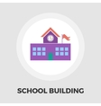 School building icon flat vector image