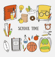 school greeting card vector image