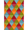 Seamless hipster geometric pattern vector image
