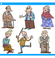 seniors people set cartoon vector image vector image