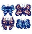 set decorative butterfly color version vector image