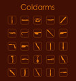 set of coldarms simple icons vector image