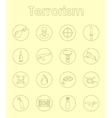 Set of terrorism simple icons vector image