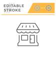 shop editable stroke line icon vector image