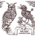 Steampunk style owl vector image vector image