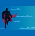 superhero flying in sky vector image vector image