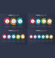 three-six steps infographic process charts vector image vector image