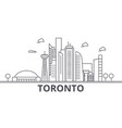 toronto architecture line skyline vector image vector image
