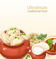 Ukrainian traditional food background vector image vector image
