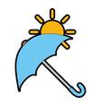 umbrella protective with sun vector image