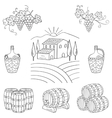 Vineyard farm village landscape vector image