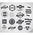 Vintage labels set design elements vector image