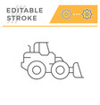 wheel loader line icon vector image vector image