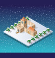 winter christmas city vector image vector image