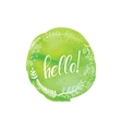 with word hello vector image vector image