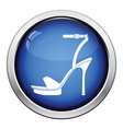 Woman high heel sandal icon vector image vector image