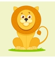 lion sitting and smiling vector image