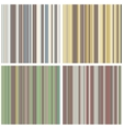 Abstract Striped Seamless Pattern Set vector image vector image