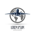 Airplane logo design template journey or travel