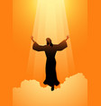 ascension day jesus christ vector image vector image