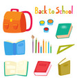 back to school set with school supplies isolated vector image vector image