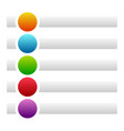banners buttons with circles for messages with vector image