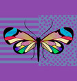 butterfly greta oto stained glass transparent vector image vector image