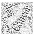 Cancer Prevention and Green Tea Intake Word Cloud vector image