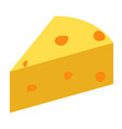 cheese icon on white background flat yellow milk vector image vector image