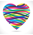 colorful strip heart vector image vector image