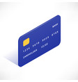 credit card isometric icon vector image vector image