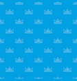diamond crown pattern seamless blue vector image vector image