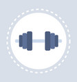 dumbbell icon strong hand arm bicep active healthy vector image