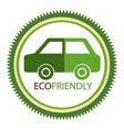 eco friendly environmental label vector image vector image