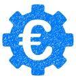Euro Development Gear Grainy Texture Icon vector image vector image
