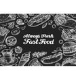 fast food design template menu restaurant vector image