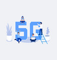 fifth generation wireless 5g concept vector image vector image