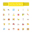 Flat Housing Icons vector image vector image