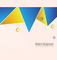 golden geometrical abstract background vector image vector image