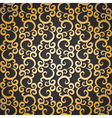 golden pattern with swirls vector image vector image