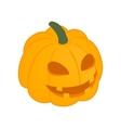 Halloween pumpkin isometric 3d icon vector image vector image