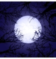 Halloween trees and moon vector image