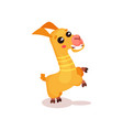 happy llama alpaca cartoon character having fun vector image